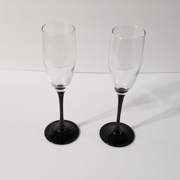 Vintage Luminarc French Champagne Flutes